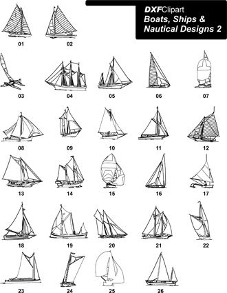 DXF Boats, Ships & Nautical Designs 2