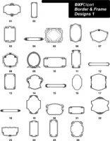 DXF Border & Frame Designs 1