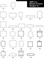 DXF Border & Frame Designs-10