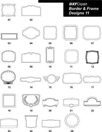 DXF Border & Frame Designs-11