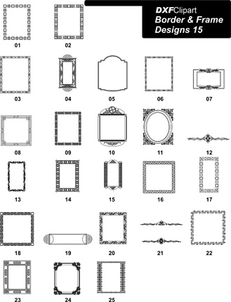 DXF Border & Frame Designs-15