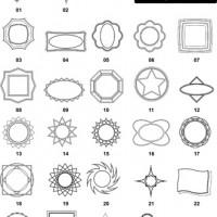 DXF Border & Frame Designs-17