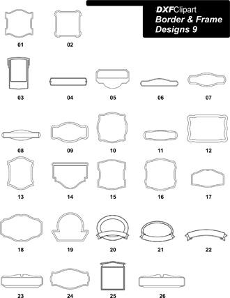 DXF Border & Frame Designs 9