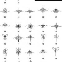DXF Border Pieces & Ornament Designs-13