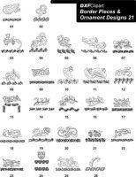 DXF Border Pieces & Ornament Designs-21