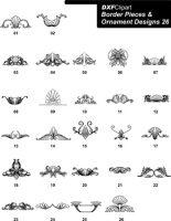 DXF Border Pieces & Ornament Designs-26