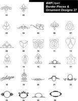 DXF Border Pieces & Ornament Designs-27