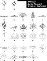 DXF Border Pieces & Ornament Designs-28
