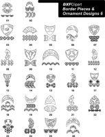 DXF Border Pieces & Ornament Designs 6
