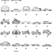DXF Car & Truck Designs 1