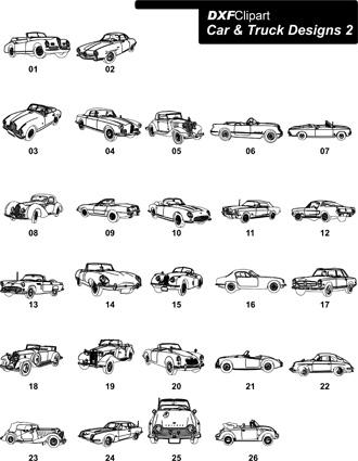 DXF Car & Truck Designs 2