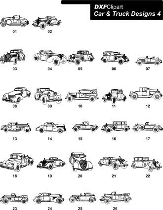 DXF Car & Truck Designs 4