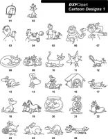 DXF Cartoon Designs 1