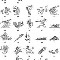 DXF Cartoon Designs-12