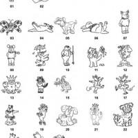 DXF Cartoon Designs 3