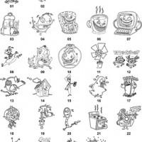 DXF Cartoon Designs 4