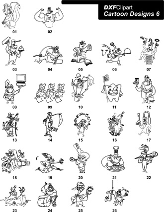 DXF Cartoon Designs 6