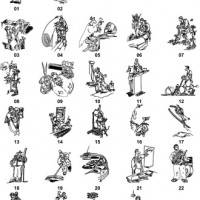 DXF Cartoon Designs 7