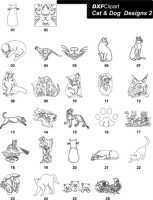 DXF Cat & Dog Designs 2