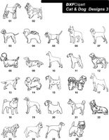 DXF Cat & Dog Designs 3