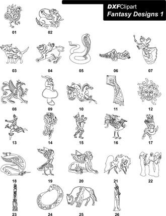 DXF Fantasy Designs 1