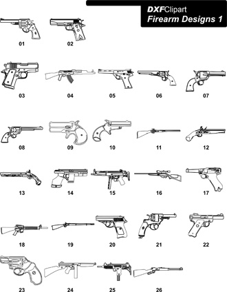 DXF Firearm Designs 1