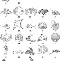 DXF Fish Designs File 1