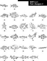 DXF Fish Designs File 3