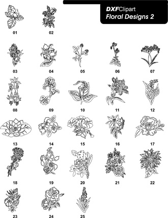 DXF Floral Designs 2
