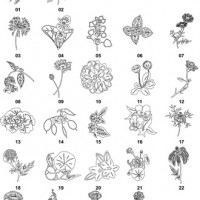 DXF Floral Designs 4