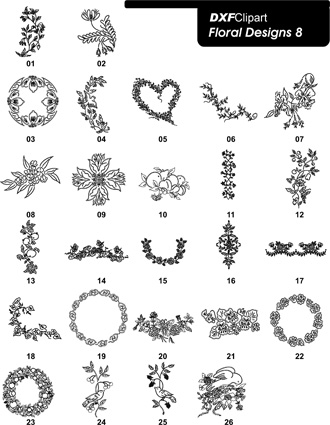 DXF Floral Designs 8