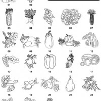 DXF Fruit & Vegetable Designs 1