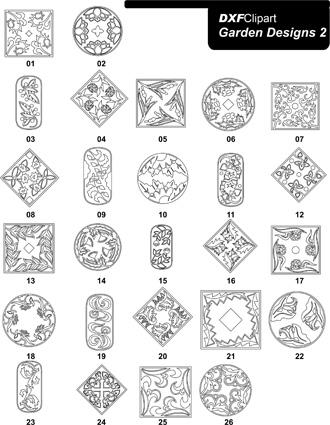 DXF Garden Designs 2