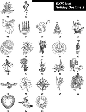 DXF Holiday Designs 2