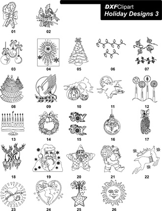 DXF Holiday Designs 3