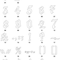 DXF Number Designs 4