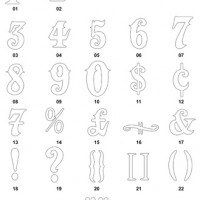 DXF Number Designs 5