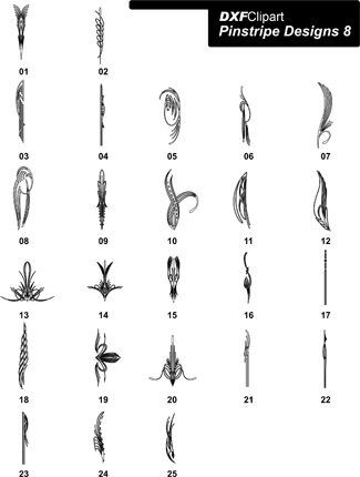 DXF Pinstripe Designs 8