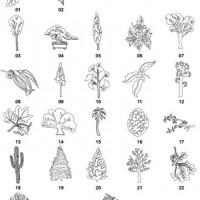 DXF Tree Designs 1