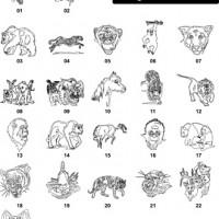 DXF Wild Animal & Dinosaur Designs 2