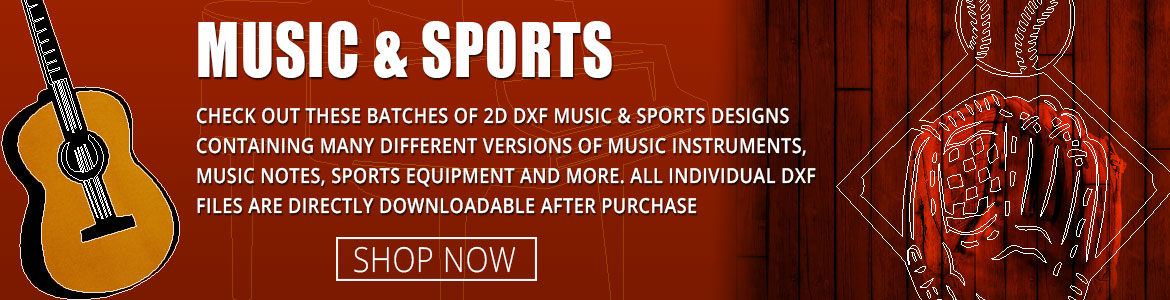 Music and Sports DXF Clipart