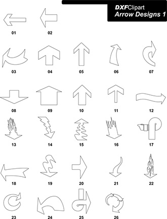 DXF Arrow Designs