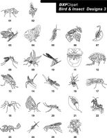 DXF Bird & Insect Designs 3