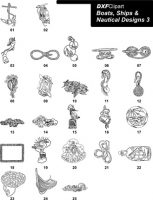 DXF Boats, Ships & Nautical Designs 3