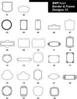 DXF Border & Frame Designs-12