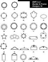 DXF Border & Frame Designs-16
