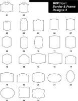 DXF Border & Frame Designs 3