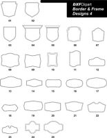 DXF Border & Frame Designs 4