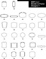 DXF Border & Frame Designs 7