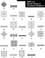 DXF Border Pieces & Ornament Designs 4